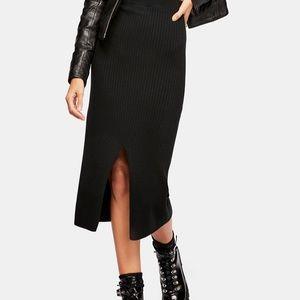 NWT! Free people black midi skirt